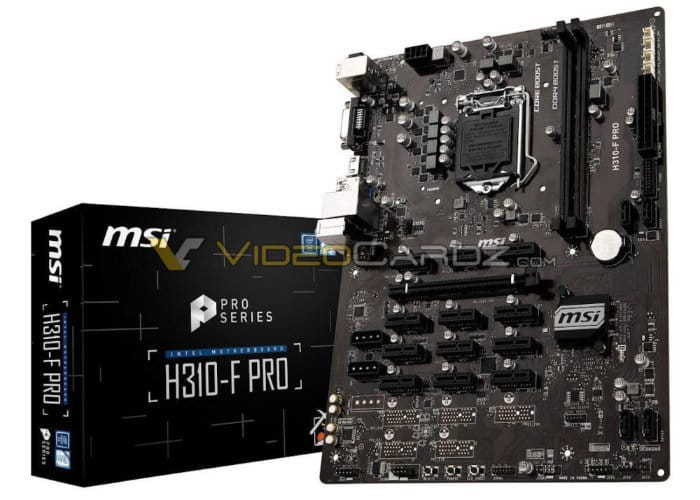 MSI H310-F Pro mining motherboard