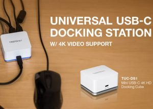 Trendnet Mini USB-C HD Docking Cube Supports 3840 x 2160