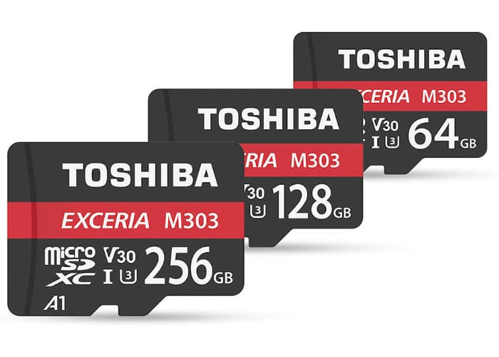 New Toshiba Video Speed Class 30 (V30) M303 EXCERIA microSDXC Cards Unveiled - Geeky Gadgets
