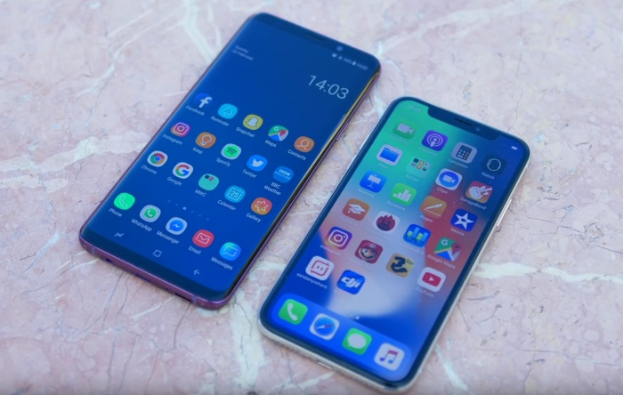 Samsung Galaxy S9+ vs Apple iPhone X