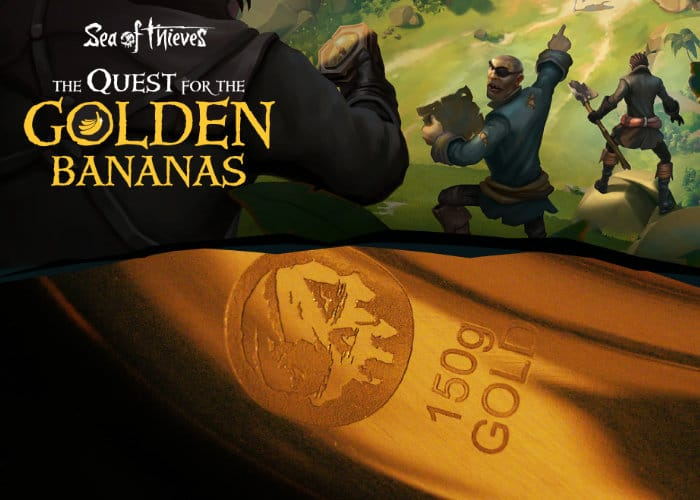"When the new and highly anticipated Xbox and PC online multiplayer pirate adventure game Sea of Thieves launches on March 20th, 2018. The games developer Rare and Microsoft have announced a new digital treasure hunt that will offer £80,000 in prize money if you can find the ""Golden Bananas"". Watch the reveal video below to learn more about the Quest for the Golden Bananas. ""The legendary treasure of the Golden Bananas has been stolen. Are you and your crew the pirates who will find it?"" To enter into the digital treasure hunt simply down three pirate crew of up to 4 people and from 8:00AM GMT, a new clue will be released every 3-4 hours over 3 days. ""Answers to these riddles could be anywhere, so look sharp. There are 15 fiendish puzzles to solve!"" Once you have your answers ""enter each answer into one of the 15 blank spaces in the Passage. But you won't be able to submit them until all 15 puzzles have been released, so keep track of your answers as you go. When you have filled in all 15 answers in the Passage, submit your crew's entry. The fastest crew in each region with all the correct answers will be invited to take part in an Ultimate Test - where one victorious crew will win the Golden Bananas!"" For more information on the Golden Bananas digital treasure hunt jump over to the official Sea of Thieves website ahead of its March 20th, 2018 launch"