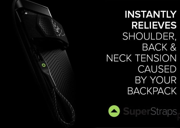 Super Straps Designed To Relieve Backpack Strain And Improve Posture