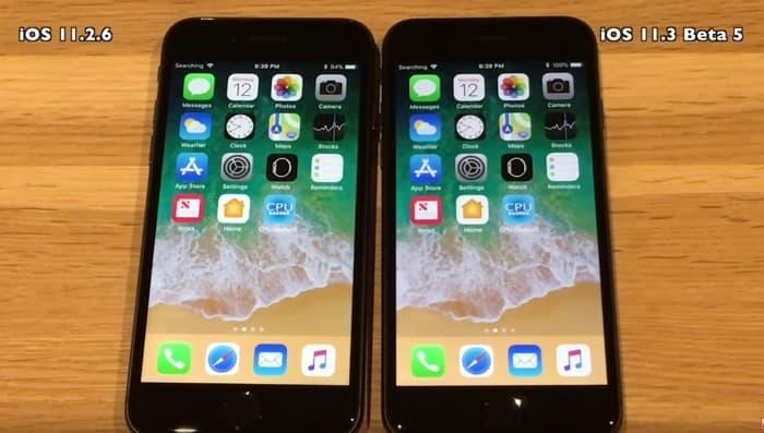 iOS 11.3 Beta 5 vs iOS 11.2.6