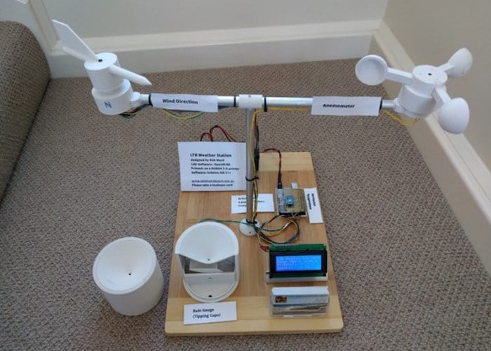 3D Printed Arduino DIY Weather Station