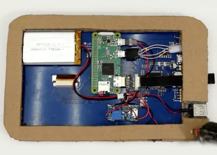 Cardboard Raspberry Pi Tablet