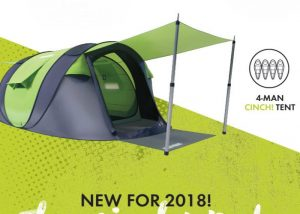 Cinch Smart Popup Tent With Smartphone Controlled Lighting And More