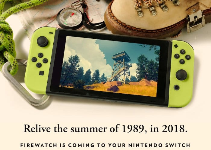 Firewatch Landing On Nintendo Switch