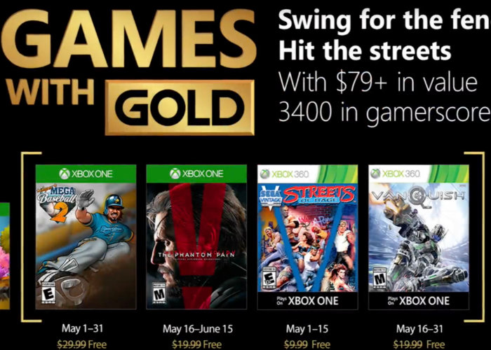 Free Xbox Games With Gold May 2018