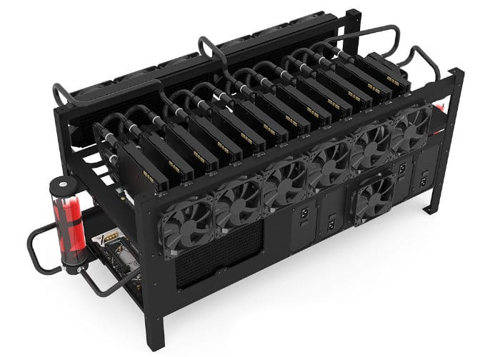 Mining Rig 12 Open Air Frame Case