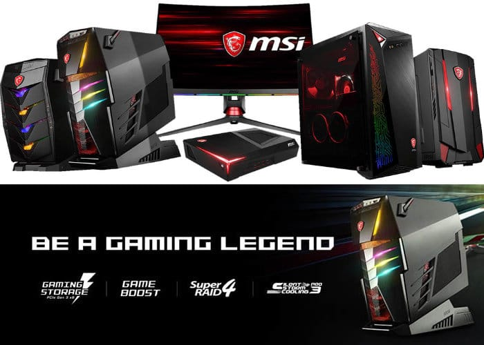 New MSI Gaming Desktop PCs
