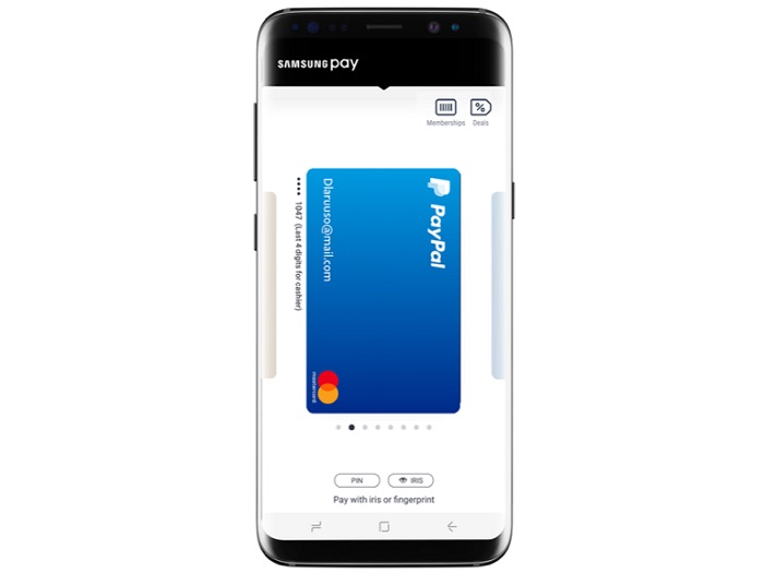 PayPal With Samsung Pay