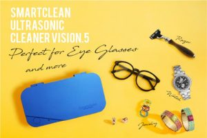 Smartclean Vision.5 Portable Ultrasonic Cleaner, Cleans Your Glasses And More