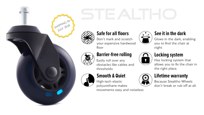 Stealtho Ultimate Caster Wheels, Upgrade Your Gaming Or
