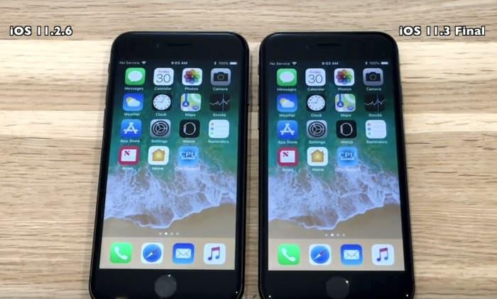 iOS 11.3 vs iOS 11.2.6