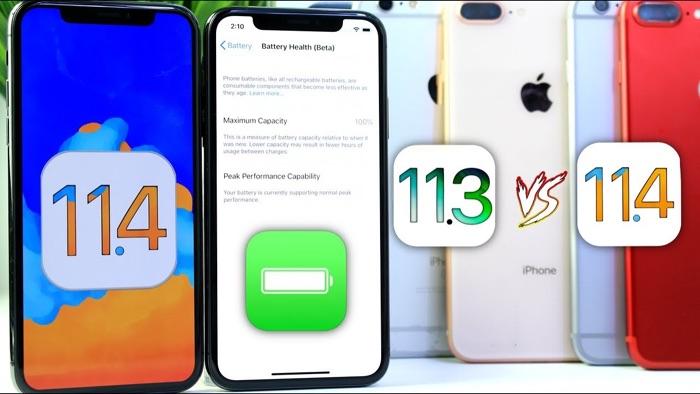 iOS 11.4 vs iOS 11.3