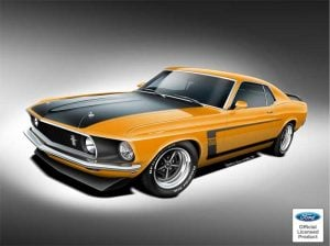 Officially Licensed 1969 and 1970 Boss 302, Boss 429, and Mach 1 Mustangs Coming