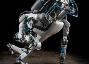 Boston Dynamics Atlas Robot Walks And Jump Across Open Terrain