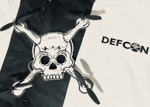 Awesome DEFCON 26 Flying Quad Copter Skull Badge