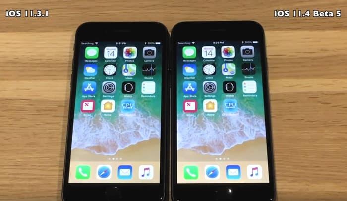 iOS 11.3.1 vs iOS 11.4 Beta 5