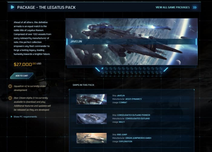New Star Citizen Ship Game Bundle