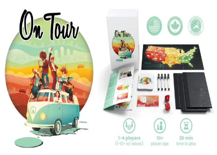 On Tour Strategic Roll And Write Board Game Hits Kickstarter