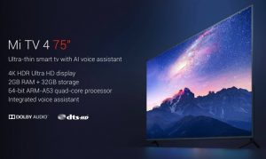 New 4K 75 Inch Xiaomi Mi TV 4 Launched