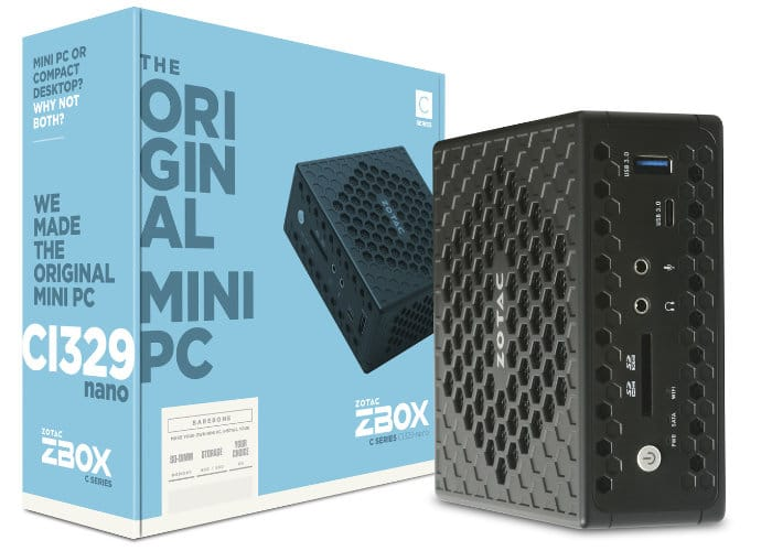 Zotac ZBOX CI329 Nano Passively Cooled Mini PC