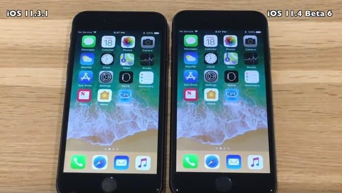 iOS 11.4 Beta 6 vs iOS 11.3.1 Speed Test