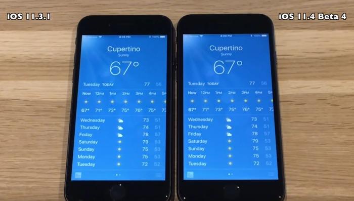 iOS 11.4 Beta 4 vs iOS 11.3.1