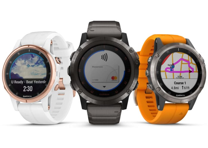 Garmin Fenix 5 Plus GPS Watches With Pulse Ox Acclimation Sensor