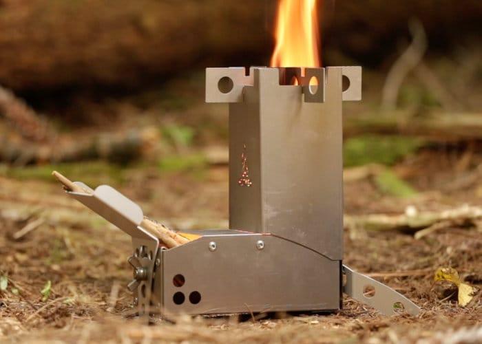 Hot Ash Mini Wood Burning Rocket Stove Geeky Gadgets