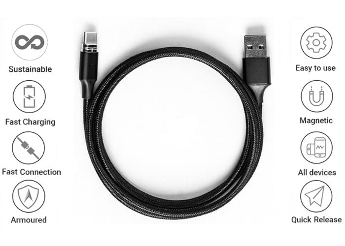 Jet Kevlabraid Armoured Charging Cable