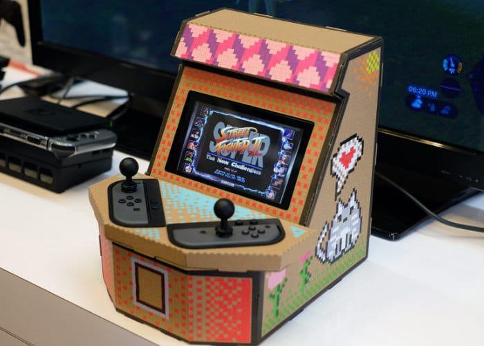 Nintendo Switch $20 Cardboard Arcade Cabinet
