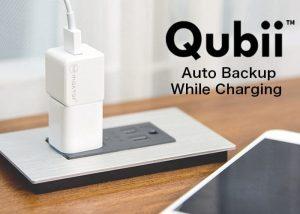 Qubii Automatic Smartphone Data Backup While You Charge