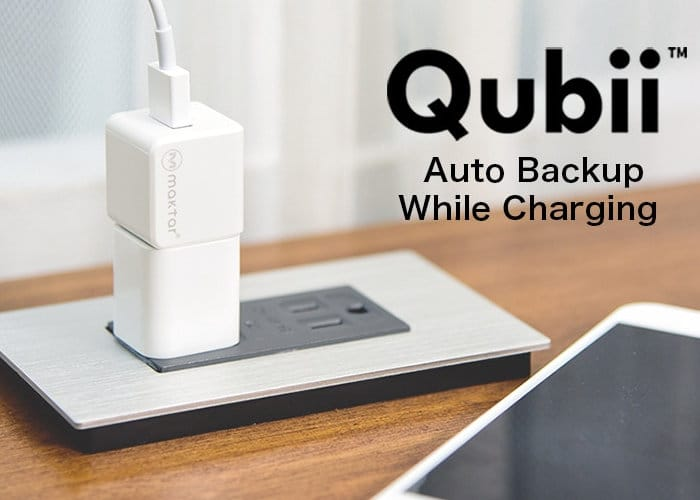 Qubii Automatic Smartphone Data Backup While You Charge