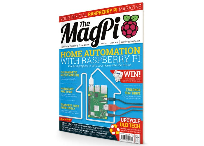 Raspberry Pi Home Automation Projects in MagPi Magazine Issue 70