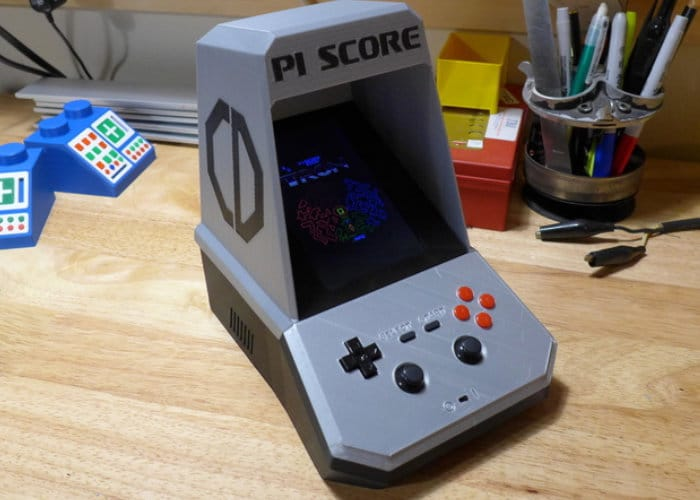 Raspberry Pi Score Tabletop MAME Arcade Cabinet