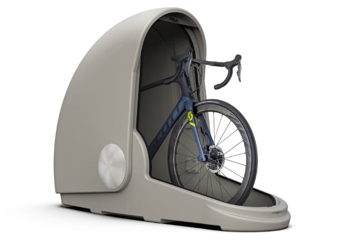 Secure single bike storage