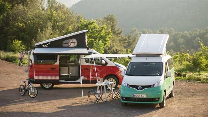Nissan Unveils New Camper Vans
