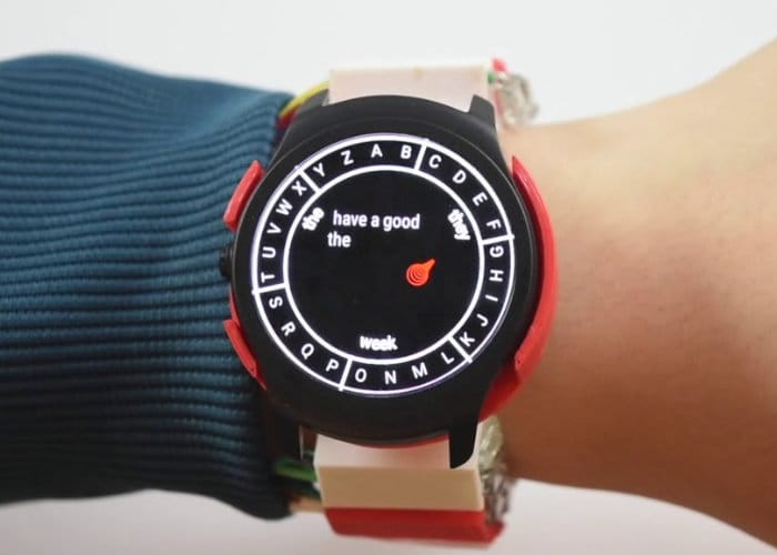 Smartwatch Hand Gesture Typing App Concept WrisTex