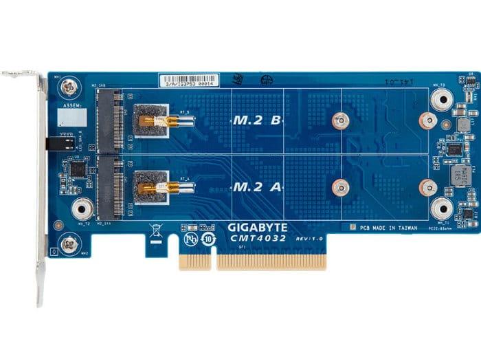 GIGABYTE CMT403x Series M.2 PCIe Riser Cards