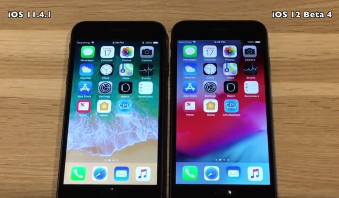 iOS 12 Beta 4 vs iOS 11.4.1