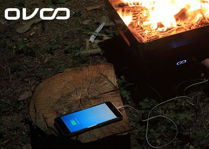 OVOO Outdoor Grill Creates Electricity From Fire