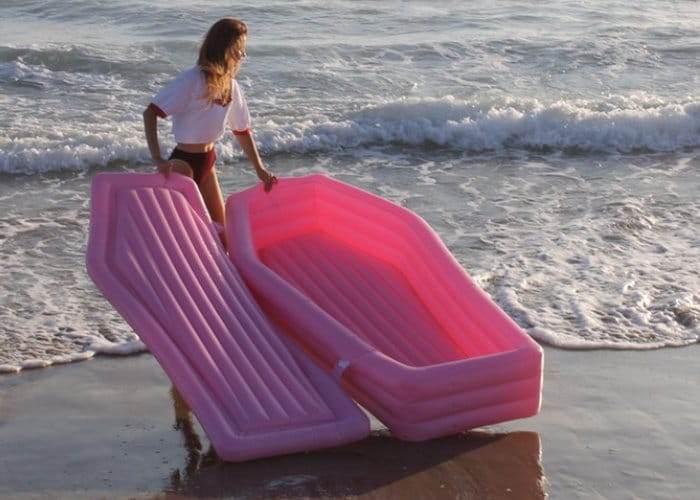 Pom Pom Floats Pink Coffin