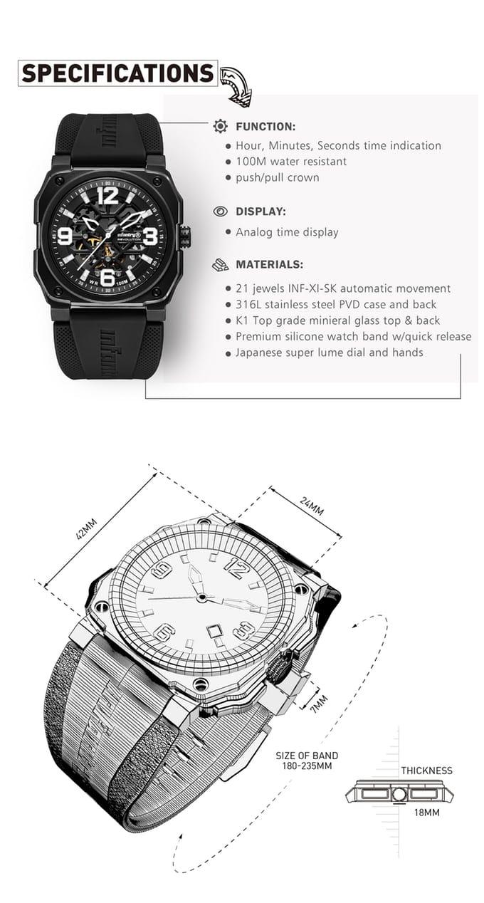 Skeleton Aviation Watch