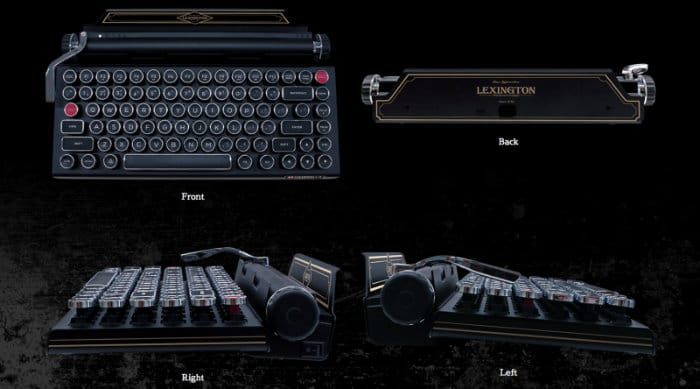 Resident Evil 2 typewriter keyboard