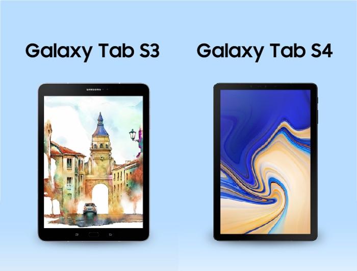 Samsung Galaxy Tab S4 vs Samsung Galaxy Tab S3