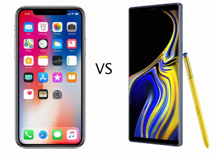iPhone X vs Galaxy Note 9