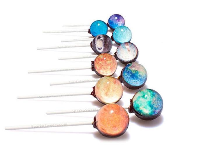 Sparko Sweets Galaxy Lollipops