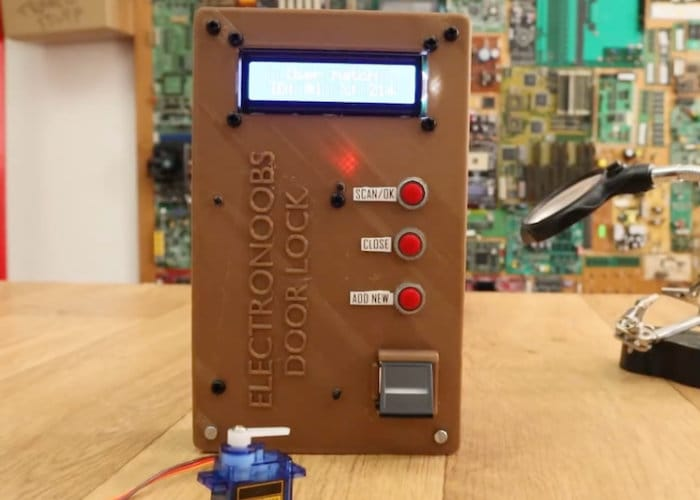 Arduino Fingerprint Door Lock Project